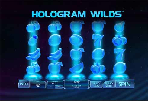 Hologram Wilds Slot Game Reels