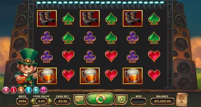 Rainbow Ryan Slot Game Reels