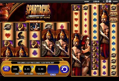 Spartacus Gladiator of Rome Slot Game Reels