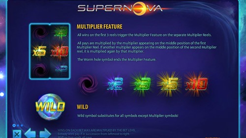 Supernova Slot Paytable