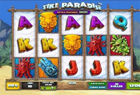 Tiki Paradise Slot Game Reels