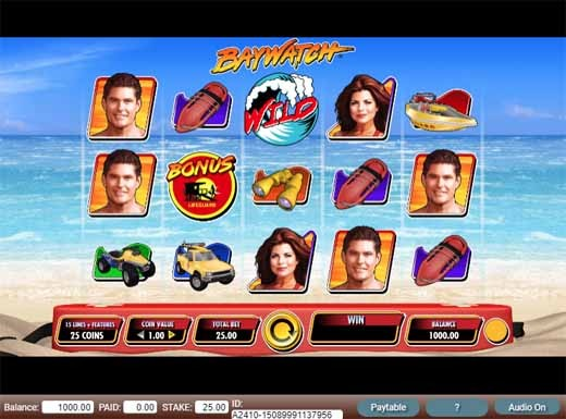Baywatch Slot Game Reels