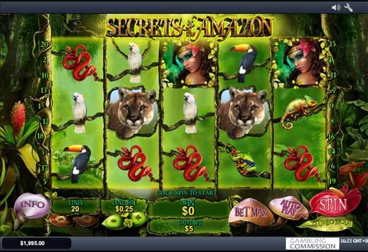 Secrets of the Amazon Slot Game Reels