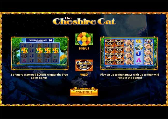 The Cheshire Cat Slot Bonus