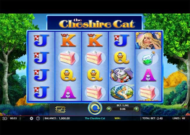 The Cheshire Cat Slot Game Reels