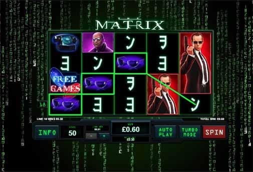 The Matrix Slot Game Reels