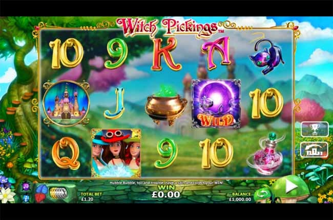 Witch Pickings Slot Game Reels