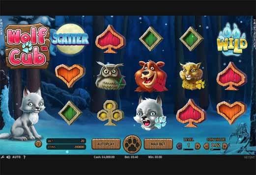 Wolf Cub Slot Game Reels