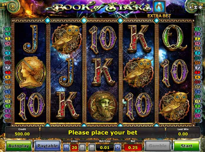Book of Stars Slot Game Reels