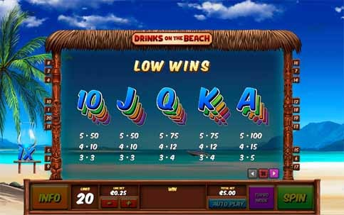 Drinks on the Beach Slot Bonus