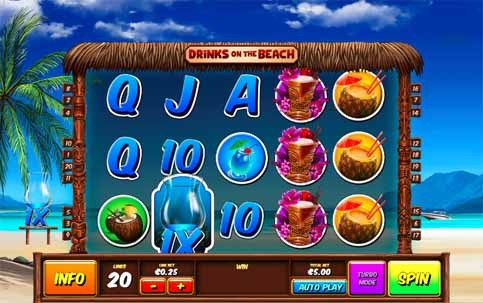 Drinks on the Beach Slot Game Reels