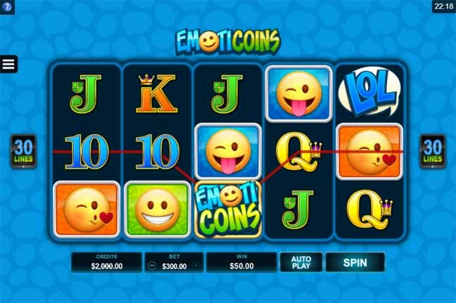 EmotiCoins Slot Game Reels