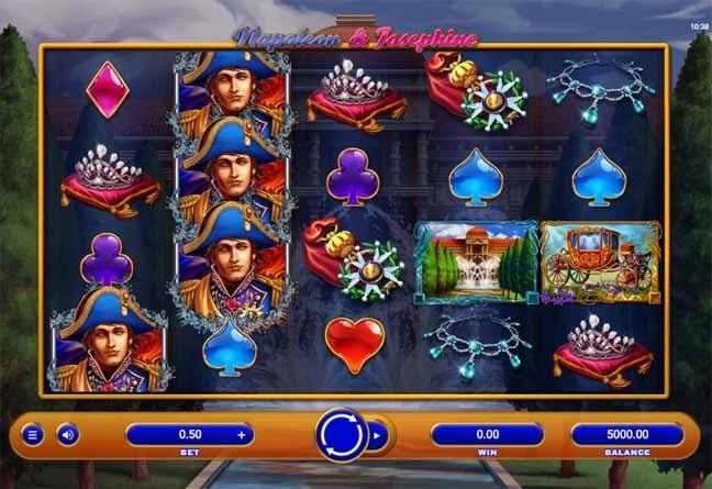 Napoleon & Josephine Slot Game Reels