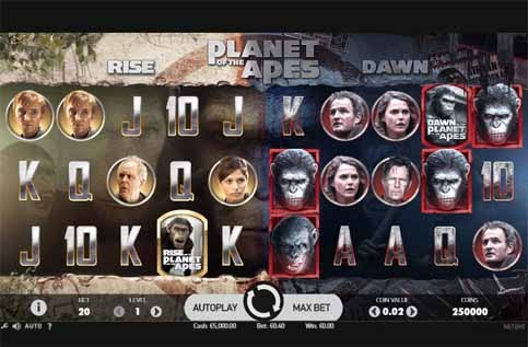 Planet of the Apes Slot Game Reels