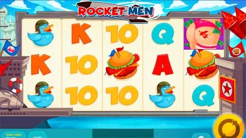 Rocket Men Slot Game Reels