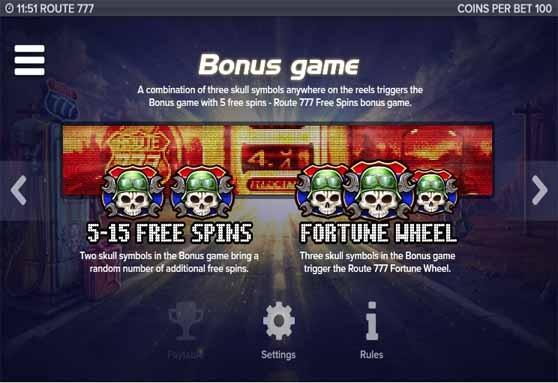 Route 777 Slot Bonus