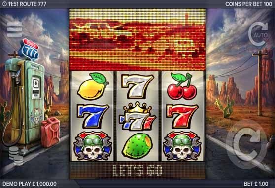 Route 777 Slot Game Reels