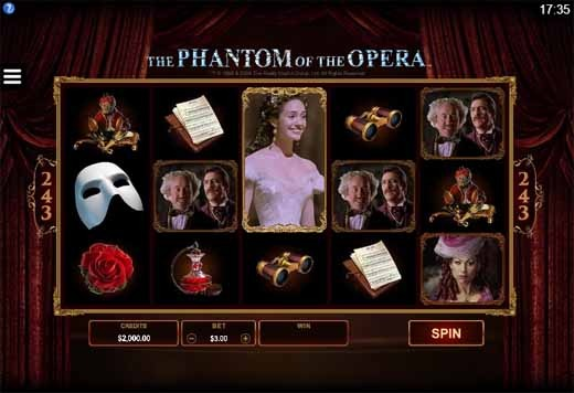 The Phantom of the Opera Slot Game Reels
