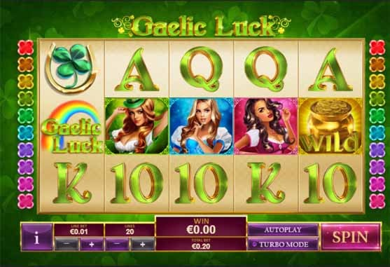Gaelic Luck Slot Game Reels