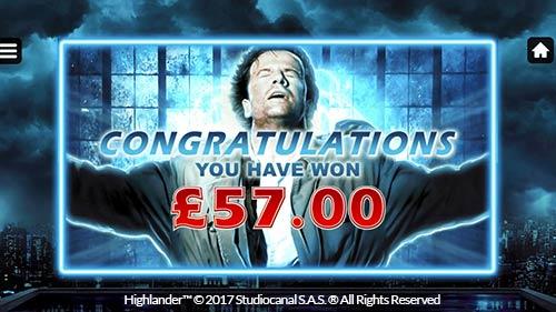 Highlander Slot Bonus
