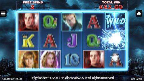 Highlander Slot Game Reels