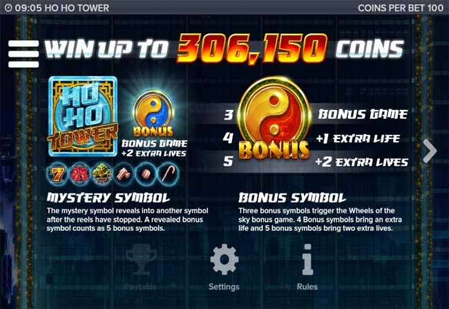 Ho Ho Tower Slot Bonus