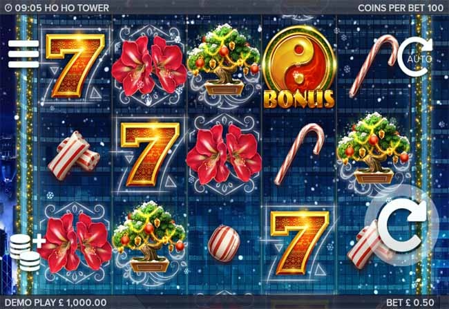 Ho Ho Tower Slot Game Reels