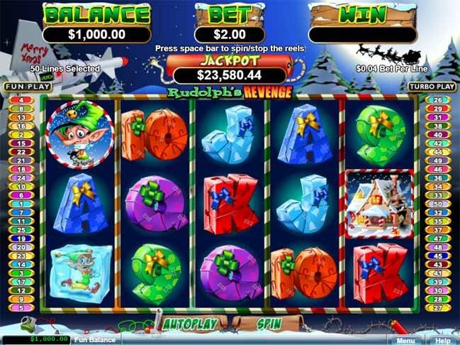 Rudolph's Revenge Slot Game Reels