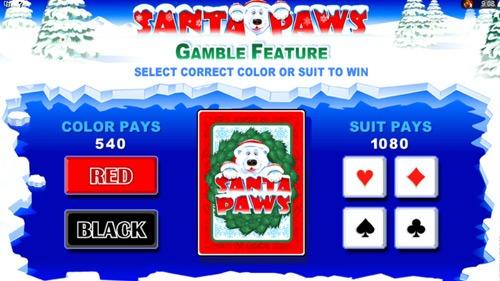 Santa Paws Slot Bonus