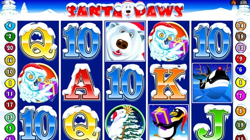 Santa Paws Slot Game Reels