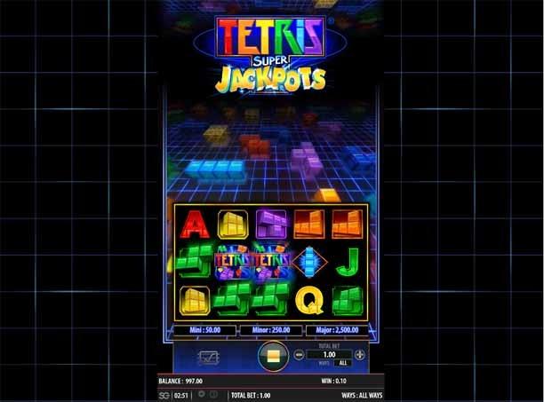 Tetris Super Jackpots Slot Bonus