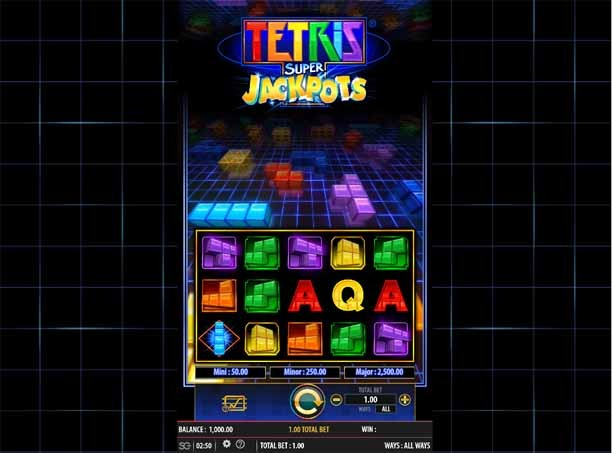 Tetris Super Jackpots Slot Game Reels