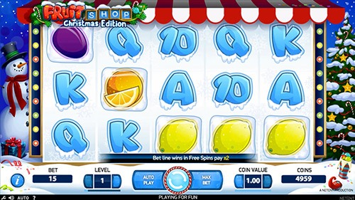 Fruit Shop Christmas Edition Slot Game Reels