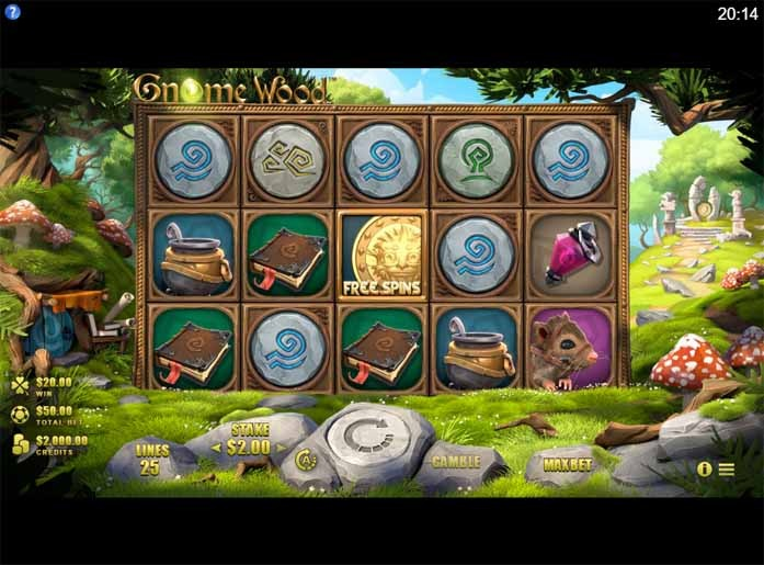 Gnome Wood Slot Game Reels