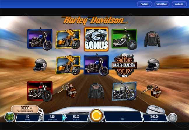 Harley Davidson Freedom Tour Slot Game Reels