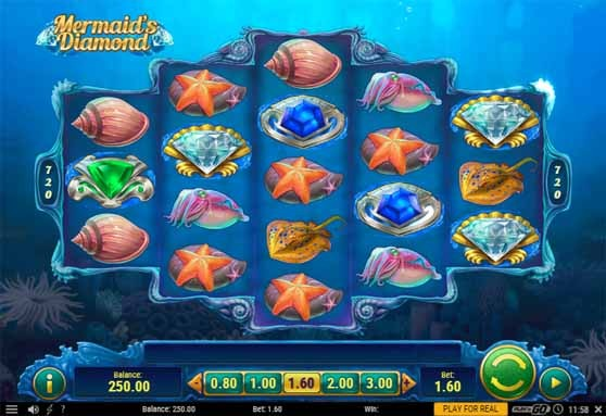 Mermaid's Diamond Slot reels