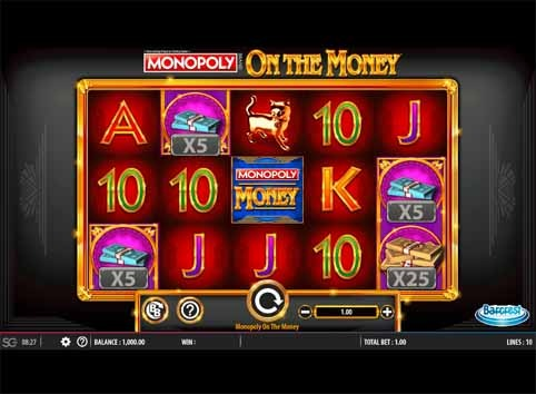 Monopoly on the Money Slot Game Reels