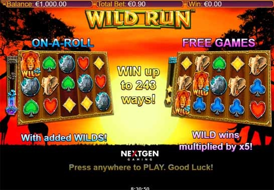 Wild Run Slot Bonus