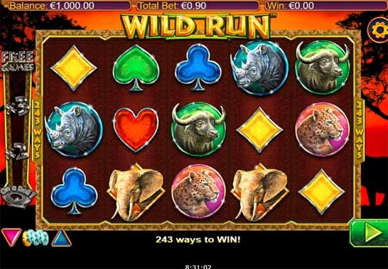 Wild Run Slot Game Reels