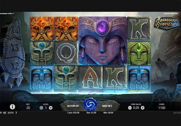 Asgardian Stones Slot Game Reels