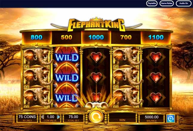 Elephant King Slot Game Reels