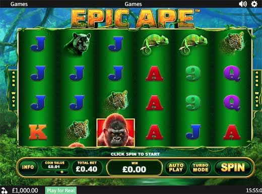 Epic Ape Slot Game Reels
