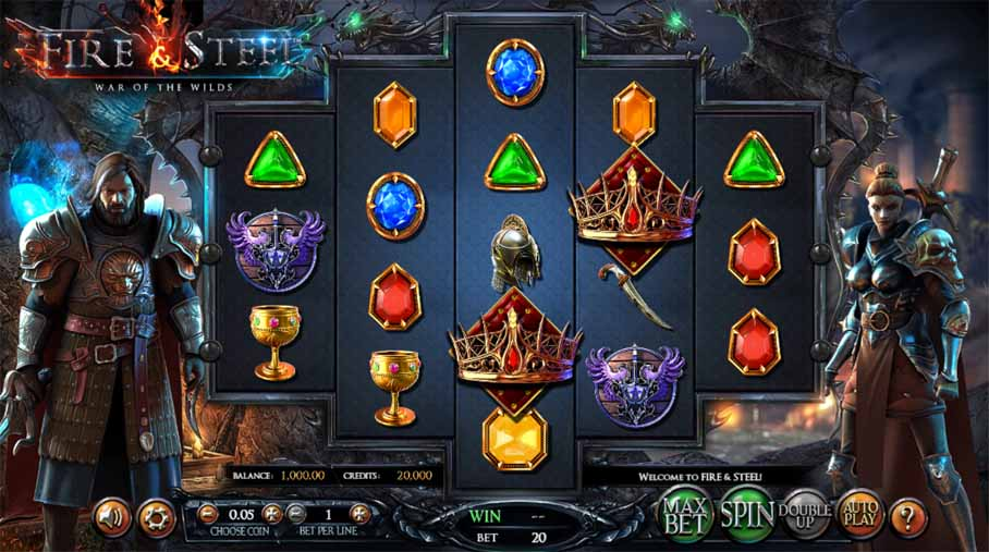 Fire & Steel: War of the Wilds Slot Game Reels