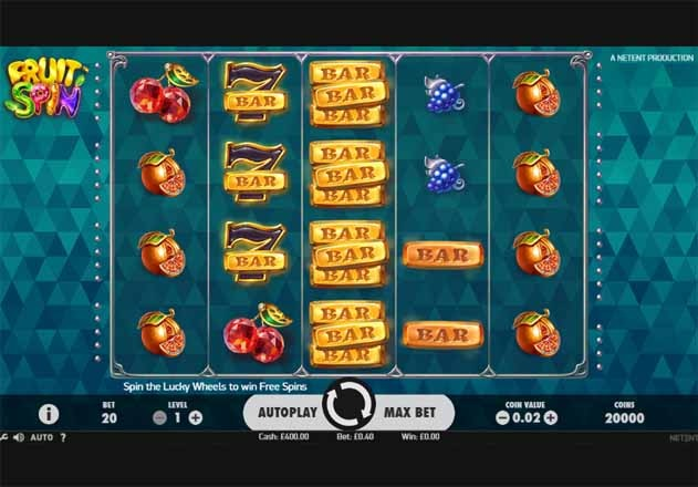 Fruit Spin Slot Game Reels