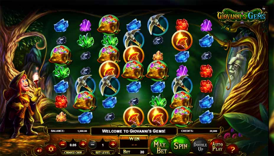 Giovanni's Gems Slot Game Reels