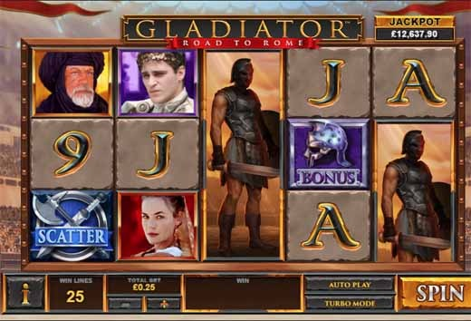 Gladiator Road to Rome Slot Game Reels