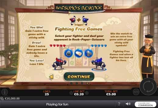 Satsumo's Revenge Slot Bonus