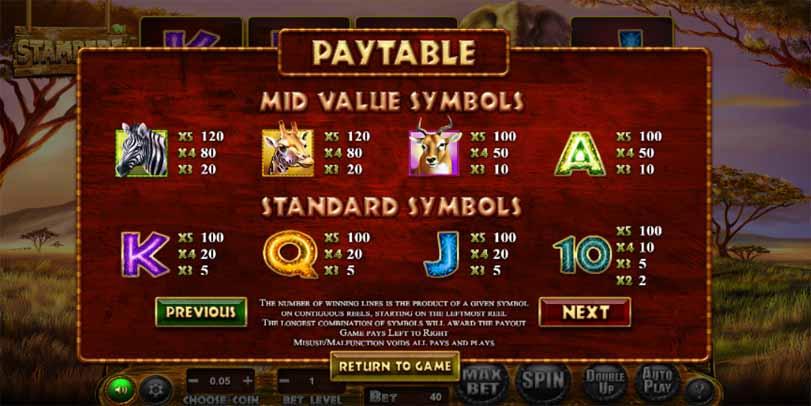 Stampede Slot Payatble