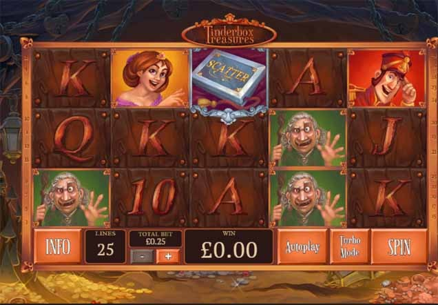 Tinderbox Treasures Slot Game Reels