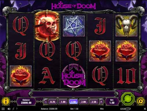 House of Doom Slot reels